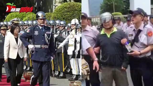 李男持水瓶所丟擲的車隊,並不是蔡英文總統乘坐的車隊。 #邊編 #年改 #抗議 蔡英文 Tsai Ing-wen  《水瓶丟小英車隊 退休派出副所長遭逮送辦》https://goo.gl/XuNXtH