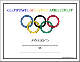 Certificate:- great site for huge amount of olympicy stuff!