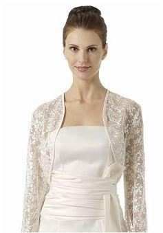 long sleeves lace collarless wedding jacket angeldresscouk