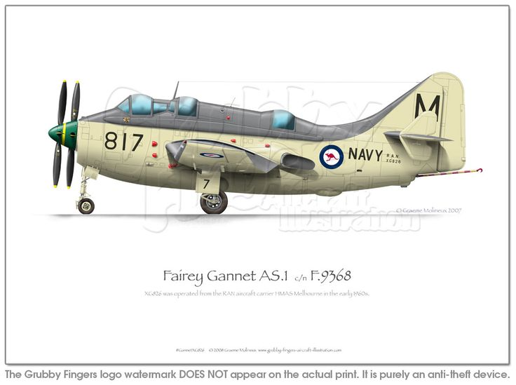 Fairey Gannet AS1 XG826 - Click Image to Close