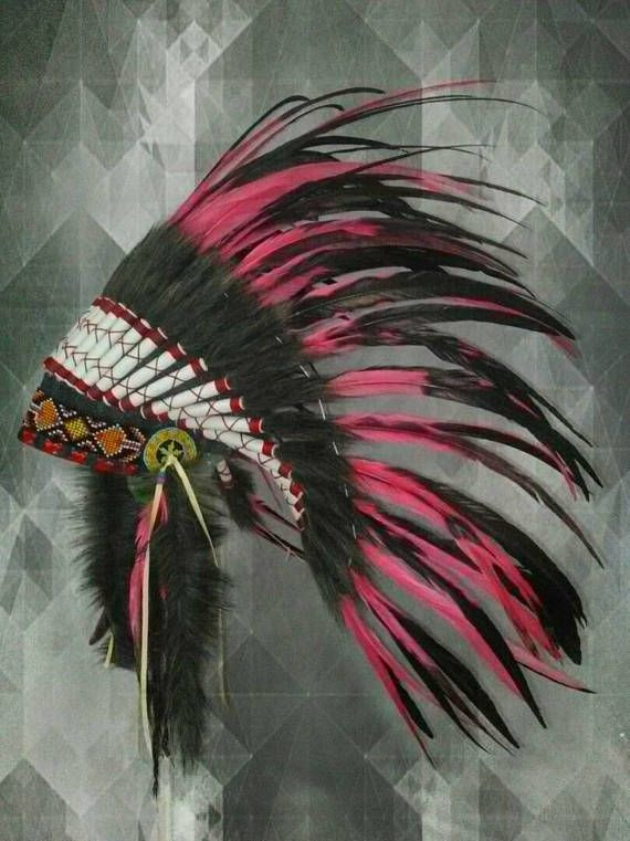 PRICE REDUCED Kids Warbonnet Children blue feather
