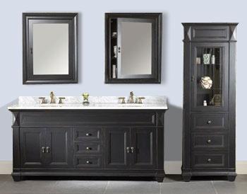 Pics Of Ronbow Torino Antique Black Vanity Set TCB Bathroom vanity and mirror