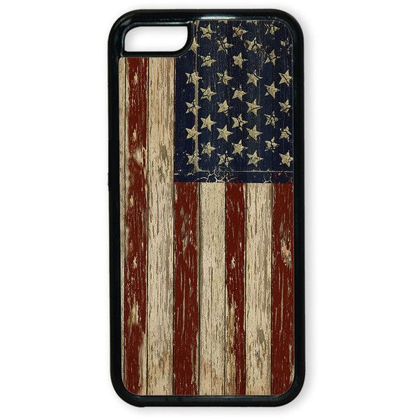 Patriotic Iphone cover - Case for Iphone - USA flag, vintage look... ($17) ❤ liked on Polyvore