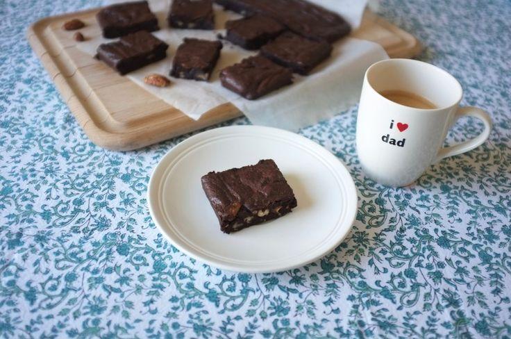 Le brownie chocolat noix de pécan sans gluten pour la fêtes des pères