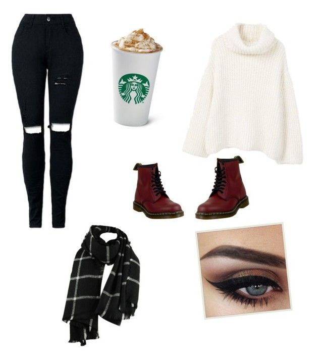 """""""autnum?"""" by jasmimosa ❤ liked on Polyvore featuring MANGO and Dr. Martens"""