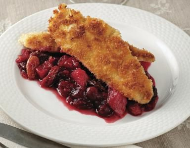 Turkey Cutlets with Cranberry and Pear Chutney: Panko-Crusted Turkey ...