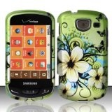 For Verizon Samsung Brightside U380 Accessory – Green Hawaii Flower Design Case Protective Cover