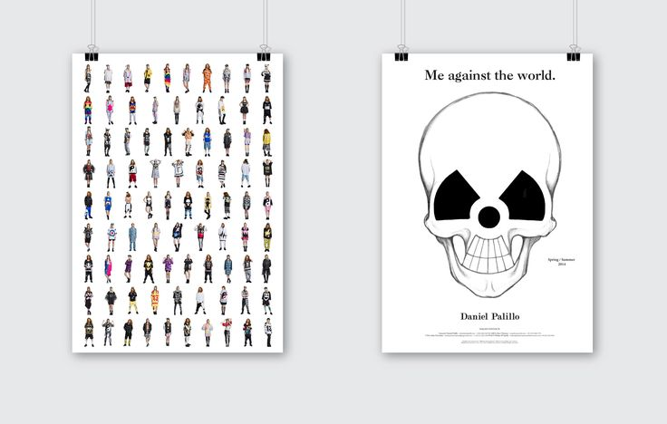 Daniel Palillo look book poster. Design Tony Eräpuro, illustration Laura Laine