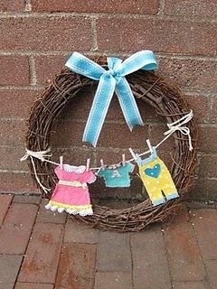 baby shower front door wreath