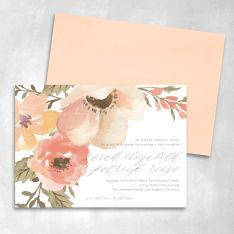 Floral Cascade Wedding Invitations