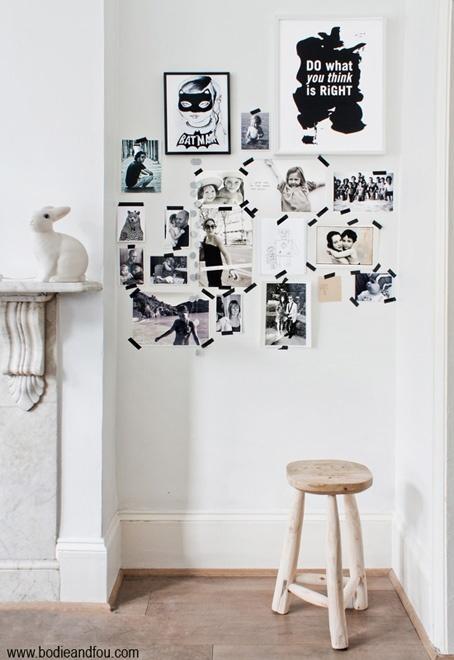 Graphics Prints, Design Interiors, Interiors Design, Photos Wall, Families Photos, Masks Tape, Washi Tape, Design Blog, Masking Tape