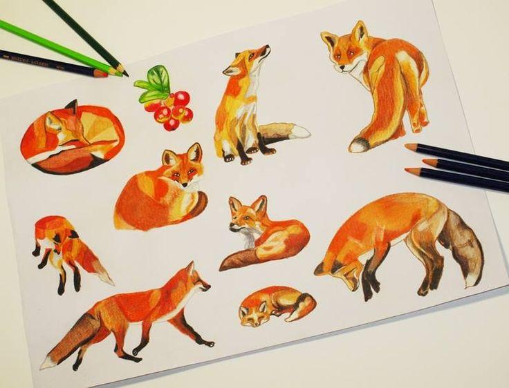 Fox tattoo design by @ankafaink /tatuaż lis