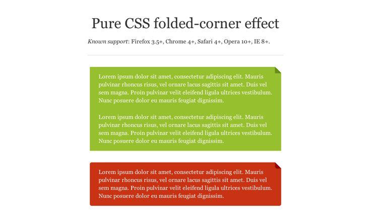 CSS Folded Corner