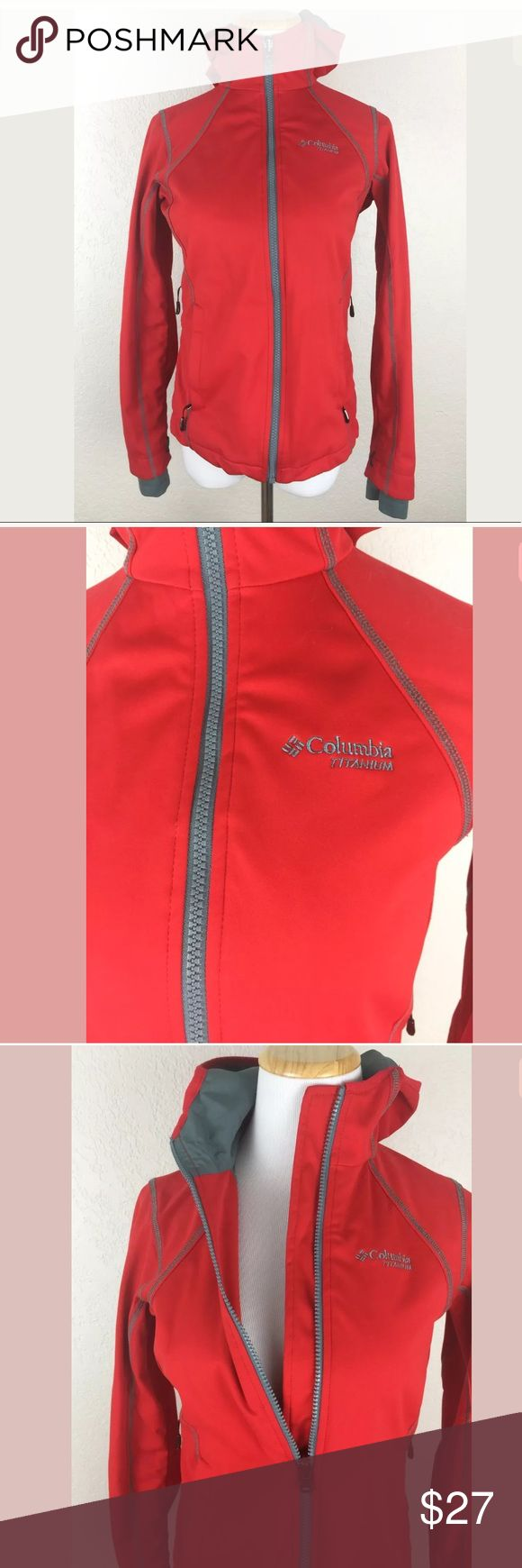 Columbia titanium Omni heat dry thermal jacket COLUMBIA WOMANS RED ZIP UP JACKET  IM PRETTY SURE THIS IS PART OF A 2 PART JACKET  BUT ONE IS MISSING  THIS IS IN GREAT SHAPE AND CAN BE WORN ALONE NO PROBLEM  COLUMBIA TITANIUM  OMNI SHIELD  OMNI HEAT  SILVER LINED INSIDE  SIDES UNZIP FOR AIR FLOW  THUMB HOLES IN ARMS  EXCELLENT CONDITION  CHEST 17 IN  SHOULDER TO SEAM 24 IN Columbia Jackets & Coats Utility Jackets