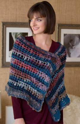 As You Like it Wrap Free Crochet Pattern from Red Heart Yarns