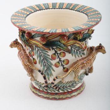 Ardmore Ceramics Leopard Planter