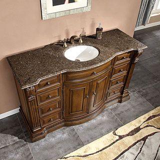 Silkroad Exclusive 60 inch Labrador Antique Granite Stone Top Bathroom Sink Cabinet  Vanity   Overstock29 best bathroom vanity images on Pinterest   Bathroom vanities  . Silkroad Exclusive Travertine Stone Top 29 Inch Bathroom Vanity. Home Design Ideas