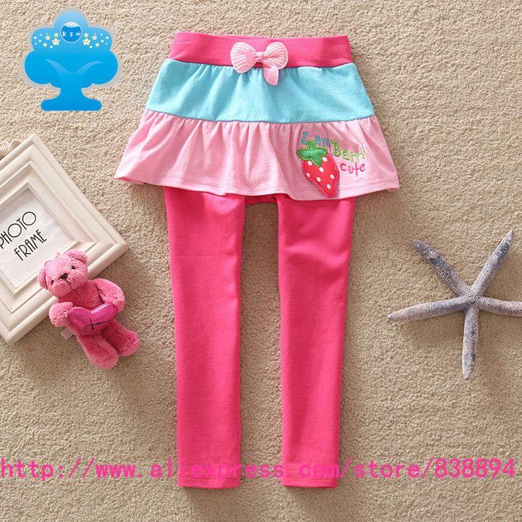 2016 brand new kids зимние брюки ребенка девушка одежда брюки юбки леггинсы детская одежда носить красивые розовые Брюки k712 #