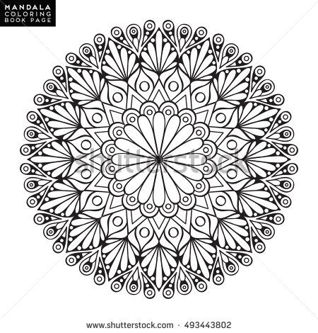 Buddhist mandala template
