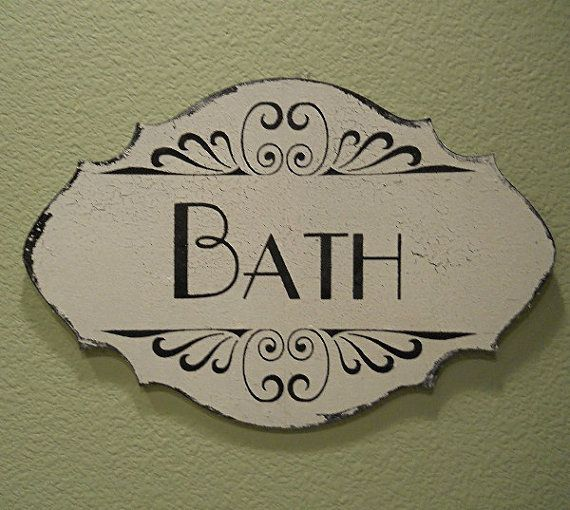 Bath Bathroom Sign For Home Wall Decor Vintage By Pucobesh Decorating Design Ideas Interior Room Design