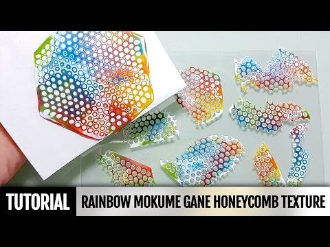 DIY 2IN1How to make Rainbow Mokume Gane technique using a round Honeycomb texture mold. Tutorial - YouTube