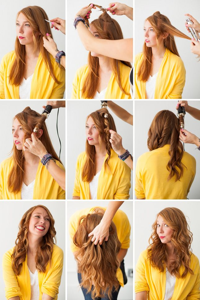 Hair hack - use a curling iron to make waves in your hair: Hair Ideas