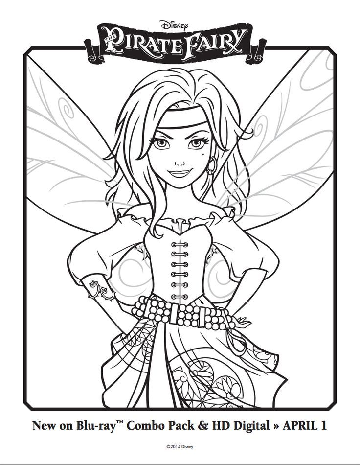 Get your family ready for The Pirate Fairy with these #DisneyFairies coloring sheets!