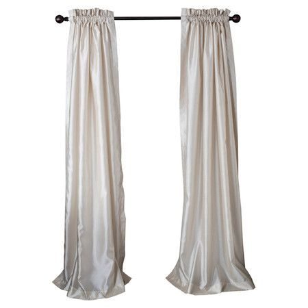 Faux Silk Curtain Panel (Set of 2) at Joss and Main