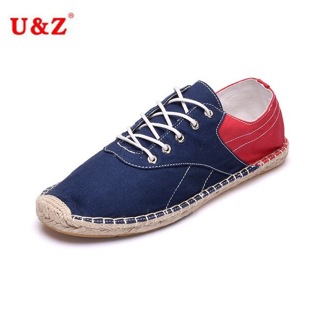 Espadrilles Mens Canvas Shoes Casual Shoes Outdoor Exercise Sneakers Flat Loafers Deck Shoes (Color : Red Size : 40)