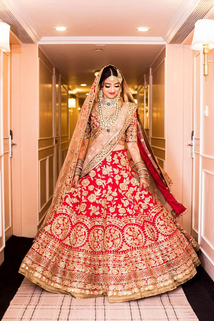 Red and gold will always be my favorite ♥ | Outfit: Manish Malhotra | : Plush Affairs
