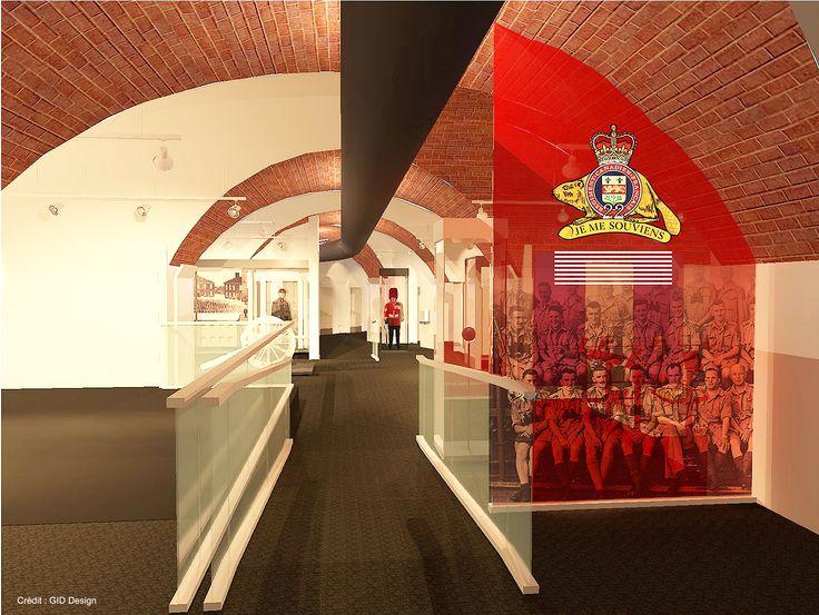 La zone d'introduction du futur Musée Royal 22e Régiment #MR22eR #CitadelleQuébec #Ouvertureprintemps2014