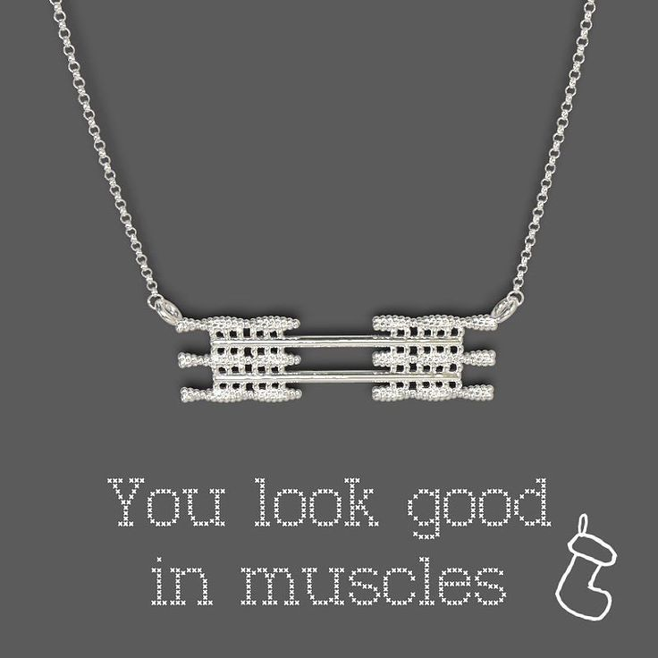 Sarcomere necklace! If youre still shopping for Christmas gifts  dont wait too long anymore. For items in stock we can ship in just a few days to anywhere in the world but dont wait until the last moment.. Check it out here: http://ift.tt/2aDy9RJ or just click the link in our bio!