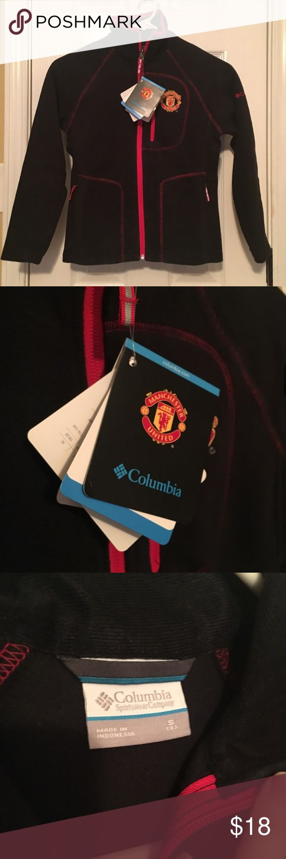 Kids Manchester United Columbia Fleece NWT Mint condition kids fleece with the Manchester United crest. Made by Columbia and great quality, brand new with tags. Currently sold out! Not the right size for my nephew. Columbia Shirts & Tops Sweatshirts & Hoodies