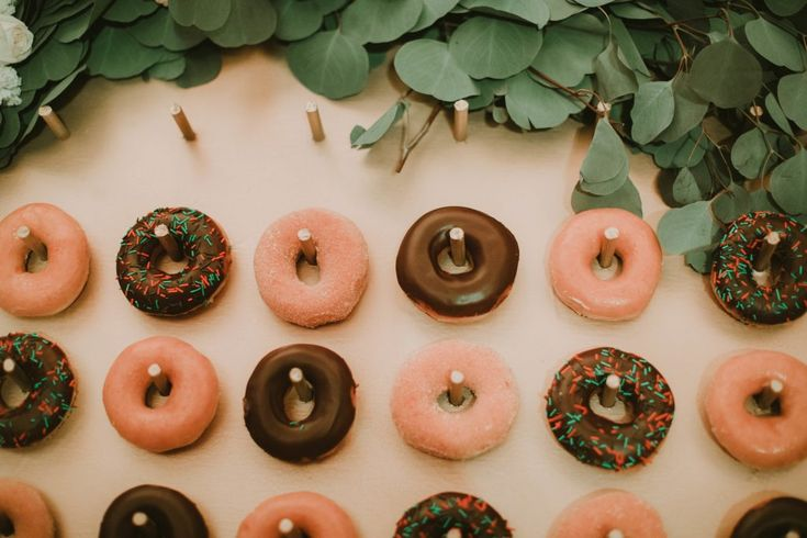 Donuts for dessert are the hot trend for stateside and destination weddings. We hope this trend never ends! #WeddingsbyFunjet #RealWedding #WeddingIdeas