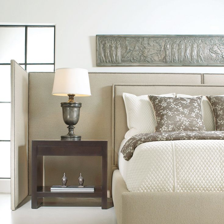 Bernhardt. Brentwood Panel Bed and Screens. Creates intimacy in large spaces