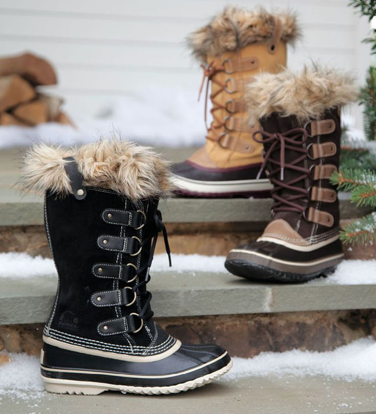 Sorel Joan of Artic™ Boots with Faux Fur Snow Cuff Tops