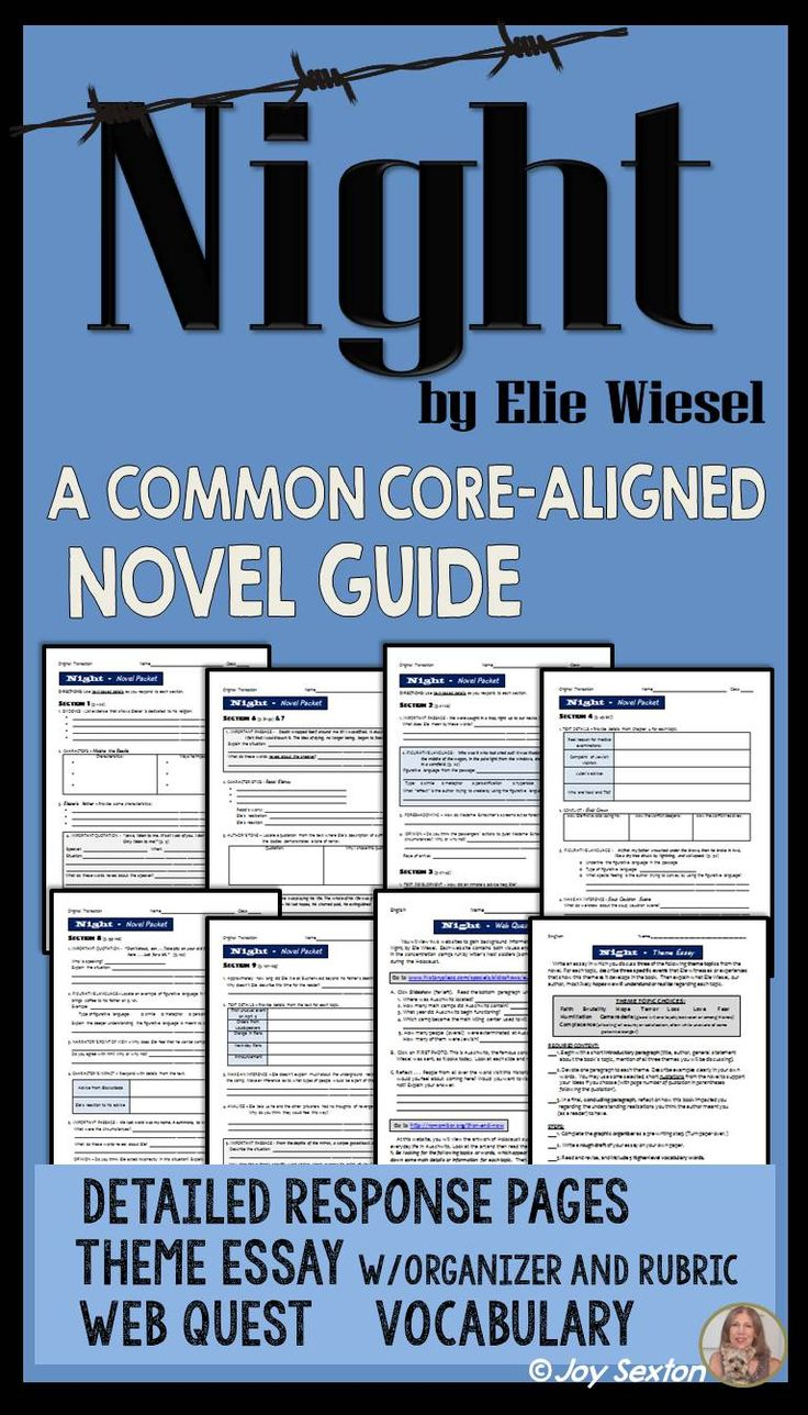 exploring the major themes in elie wiesels novel night Themes in night by elie wiesel essay the book night by elizer wiesel is mr sheehan in the novel night, elie wiesel develops the theme of.