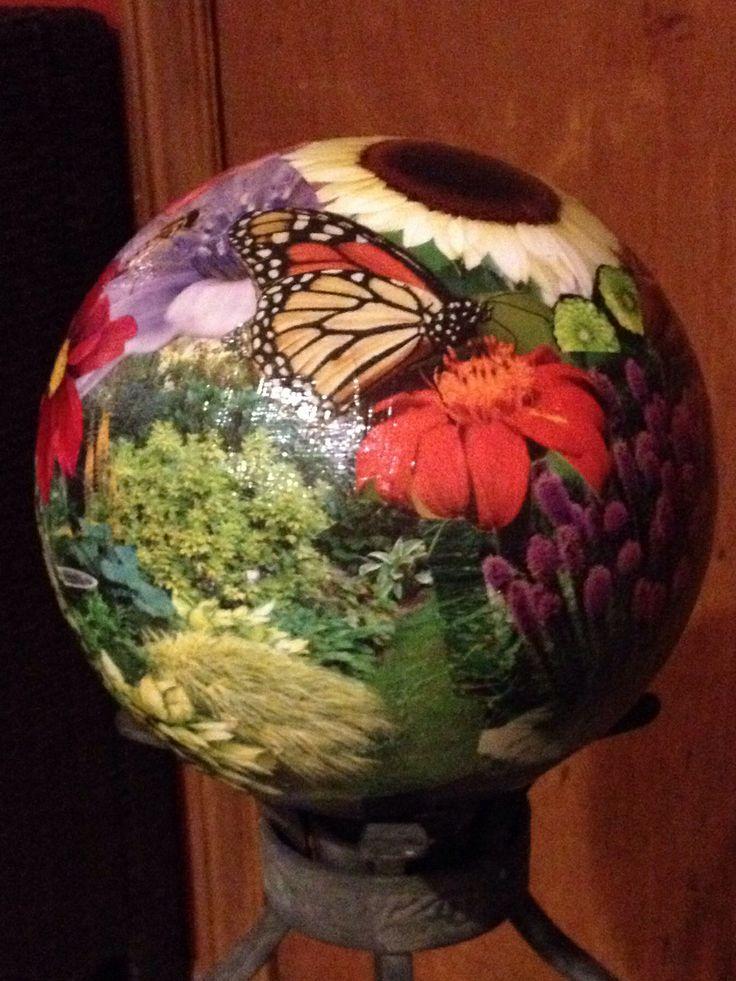 Decoupage bowling ball