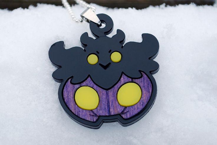 Shiny Pumpkaboo Pokemon X Y Acrylic Wood Necklace Pendant by NappinKraken 19.50 USD http://ift.tt/21T9pZl