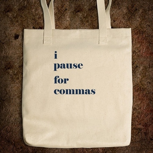 Pause for commas
