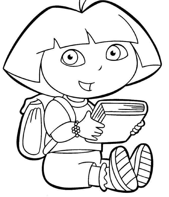 Dora Coloring Pages | Dora the Explorer Coloring Pages - Free Dora Coloring Images in Sheets