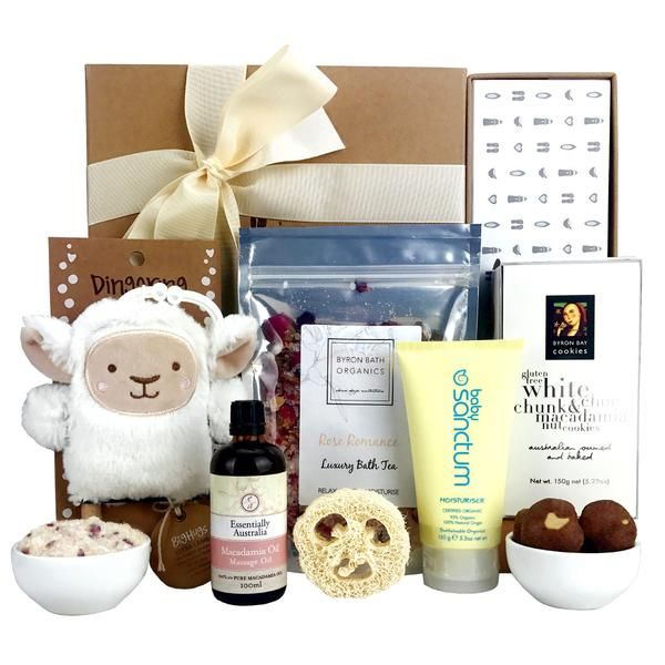 Baby Gifts Online $89 Teething toy, baby moisturiser and massage oil plus gifts for Mum & Dad.