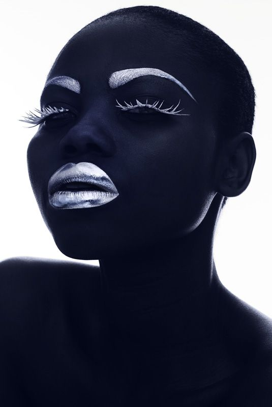 Beautiful model and stunning makeup, by Rankin, for Rolls Royce