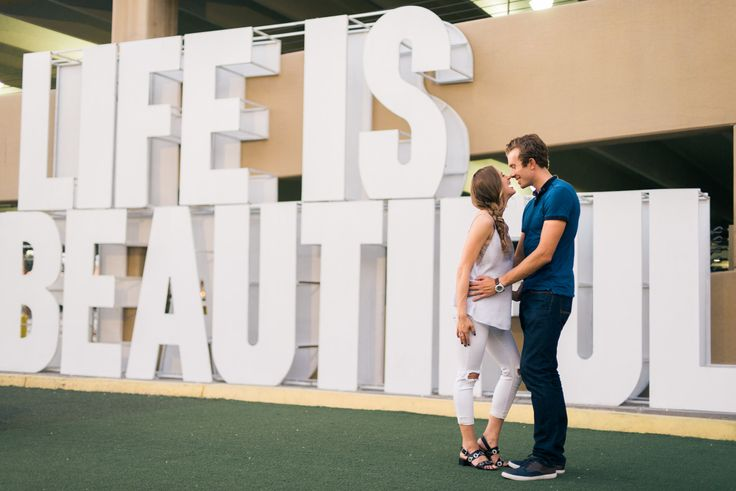 Downtown Vegas Engagement Session | Life Is Beautiful Festival