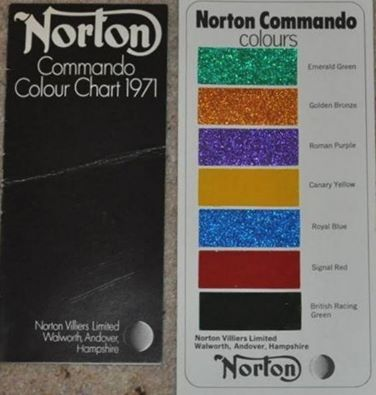 eb234ea4fb90c0d47f138650dca24373 colour chart charts a norton commando colour chart from 1971 my husband's bike is Norton Commando Manual at reclaimingppi.co