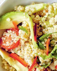 Harissa-spiced quinoa salad