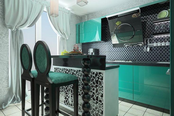 Кухня с островом Островная кухня столовая