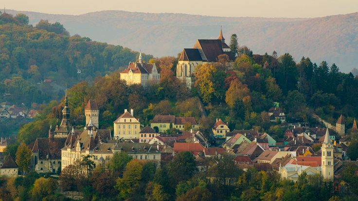 UNESCO. Historic Centre of Sighişoara - One peacefull town by Scarlat Catalin on 500px The town of Sighisoara. Here is the hill of the citadel, with the evangelical Church on the top. First builded in 1345.  www.romaniasfriends.com