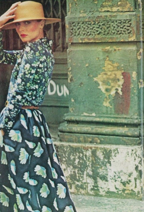 Prints . Photographed by Deborah Turbeville for Vogue, January 1975