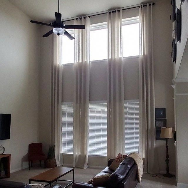 This Type Of Drapes For Living Rooms Is Absolutely An Outstanding Style Principle Drape In 2020 Long Curtains Living Room Living Room Drapes High Ceiling Living Room